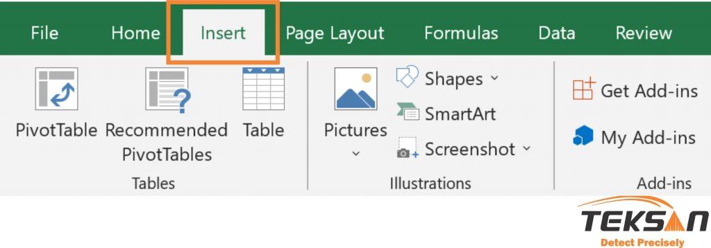 انتخاب insert برای رسم نمودار اسپکتروفتومتری